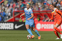 Bridgeview, IL - Saturday May 06, 2017: Julie Johnston Ertz during a regular season National Women's Soccer League (NWSL) match between the Chicago Red Stars and the Houston Dash at Toyota Park. The Red Stars won 2-0.
