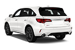 Car pictures of rear three quarter view of 2019 Acura MDX A-Spec 5 Door SUV Angular Rear