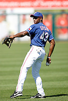Greg Golson - Texas Rangers - 2009 spring training.Photo by:  Bill Mitchell/Four Seam Images