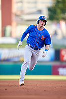Midland RockHounds right fielder Tyler Marincov (15) runs the bases during a game against the Arkansas Travelers on May 25, 2017 at Dickey-Stephens Park in Little Rock, Arkansas.  Midland defeated Arkansas 8-1.  (Mike Janes/Four Seam Images)