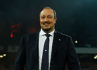 Rafael Benitez during the Italian Serie A soccer match between SSC Napoli and Genoa CFC   at San Paolo stadium in Naples, February 24 , 2014