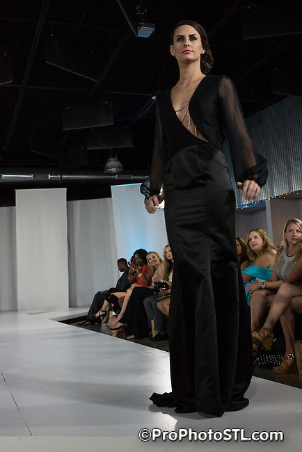 Missouri Fashion Week show presented by Grand Center at MOTO Museum in St. Louis, MO on Aug 23, 2013.