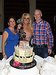 Jean McDonnell celebrating her 30th birthday in the Westcourt hotel with brother Ian and sister Jennifer. Photo: Colin Bell/pressphotos.ie