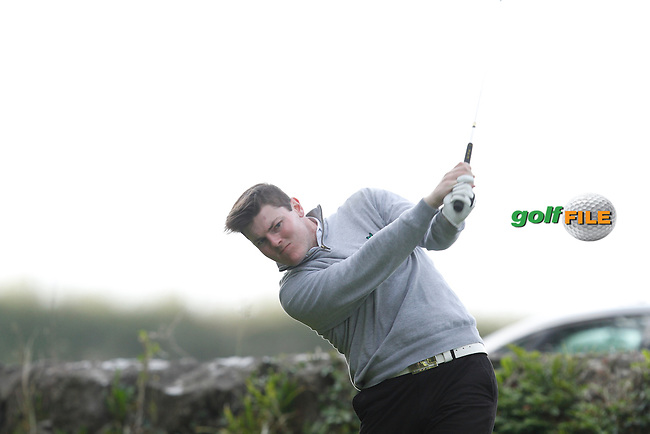 Ian Brennan (Greenore Golf Club) on the 8th tee during Round 1 of the 104th Irish PGA Championship at Adare Manor Golf Club on Thursday 2nd October 2014.<br /> Picture:  Thos Caffrey / www.golffile.ie