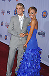 HOLLYWOOD, CA. - October 13: Aaron Carter and Karina Smirnoff arrive at the 2009 Fox Reality Channel Really Awards at the Music Box at the Fonda Theatre on October 13, 2009 in Hollywood, California.