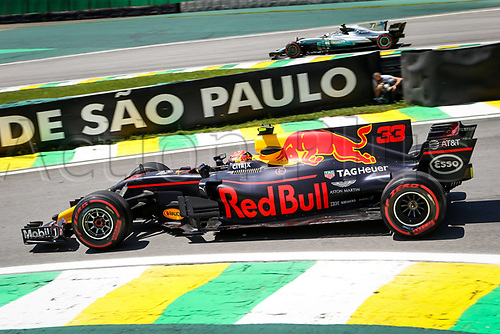10th November 2017, Autodromo Jose Carlos Pace, Sao Paolo, Brazil; F1 Grand Prix of Brazil, Free practise sessions; 33 Max Verstappen (NLD, Red Bull Racing), Sao Paulo Brazil
