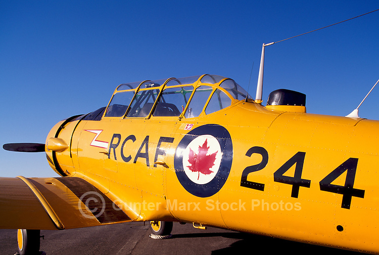 Harvard Mark II on Static Display - at Abbotsford International Airshow, BC, British Columbia, Canada