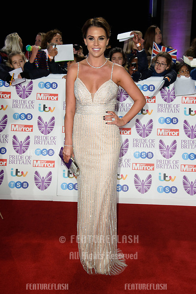 LONDON, UK. October 29, 2018: Danielle Lloyd at the Pride of Britain Awards 2018 at the Grosvenor House Hotel, London.<br /> Picture: Steve Vas/Featureflash