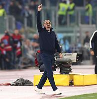 Maurizio Sarri coach of Juventus gestures<br /> Roma 07-12-2019 Stadio Olimpico <br /> Football Serie A 2019/2020 <br /> SS Lazio - Juventus FC<br /> Photo Cesare Purini / Insidefoto