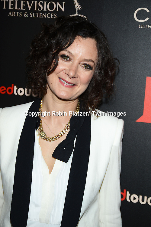 Sara Gilbert attends The 40th Annual Daytime Emmy Awards on<br />  June 16, 2013 at the Beverly Hilton Hotel in Beverly Hills, California.