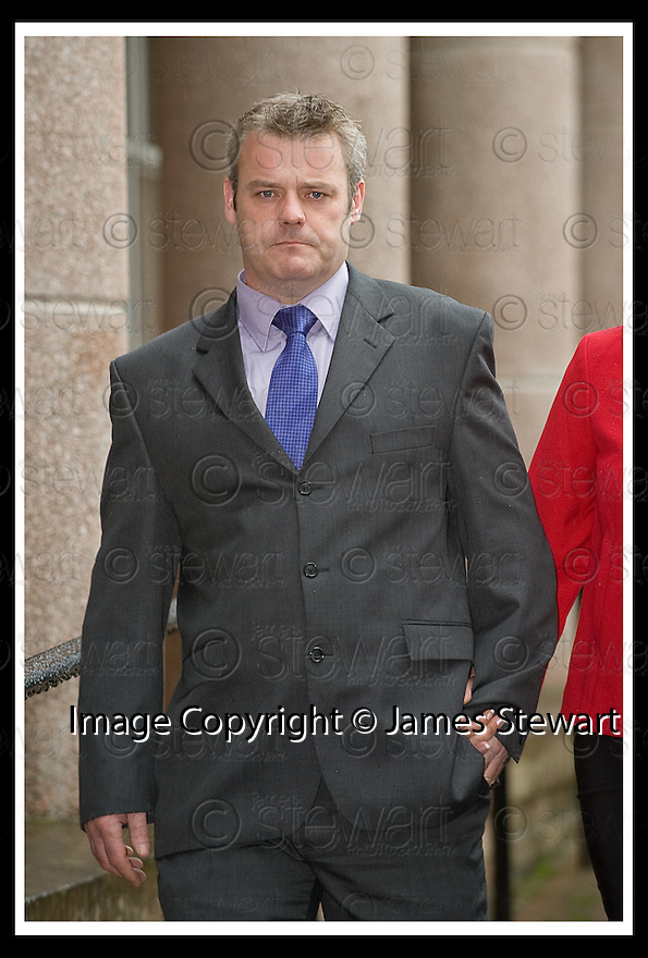 07/08/2008  Copyright Pic: James Stewart.File Name : sct_jspa01_gary_trotter_verdict.FIREMAN GARY TROTTER LEAVES  FALKIRK SHERIFF COURT (Thurs 7th Aug 08) AFTER BEING FOUND GUILTY OF CARELESS DRIVING AFTER HIS FIRE ENGINE WAS IN COLLISION WITH A CAR IN BO'NESS IN WHICH THE DRIVER WAS KILLED.... .(see copy from Jamie Beatson / Tim Bugler)....James Stewart Photo Agency 19 Carronlea Drive, Falkirk. FK2 8DN      Vat Reg No. 607 6932 25.Studio      : +44 (0)1324 611191 .Mobile      : +44 (0)7721 416997.E-mail  :  jim@jspa.co.uk.If you require further information then contact Jim Stewart on any of the numbers above........
