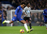 Willian of Chelsea in action during Chelsea vs Newcastle United, Premier League Football at Stamford Bridge on 12th January 2019