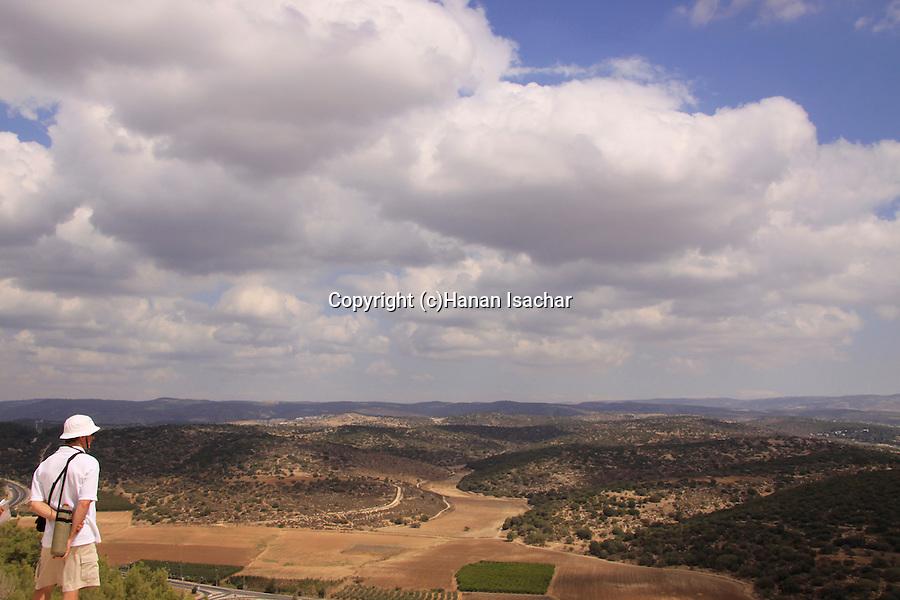 Israel, Shephelah, a view of Haela valley from Tel Azekah