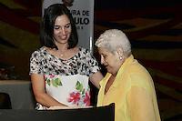 ATENCAO EDITOR: FOTO EMBARGADA PARA VEICULOS INTERNACIONAIS <br />  SAO PAULO, SP, 23 DE OUTUBRO, 2012  -  CONCURSO MISS E MISTER 3ª IDADE DO ESTADO DE SAO PAULO - Primeira Dama, Lu Alckmin e Marlene Campos de machado, compareceram  a 19ª edição do  Concurso Miss e Mister 3ª idade do Estado de São Paulo, que aconteceu na tarde dessa terça-feira, 23 - Memorial da America Latina, Barra Funda, zona oeste da capital - FOTO: LOLA OLIVEIRA-BRAZIL PHOTO PRESS
