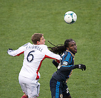 Keon Daniel, Scott Caldwell.  The Philadelphia Union defeated the New England Revolution, 1-0, at PPL Park in Chester, PA.