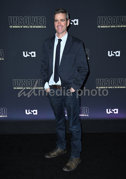 "22 February 2018 - Hollywood, California - Kyle Long. USA Network's ""Unsolved: The Murders of Tupac & The Notorious B.I.G."" held at Avalon Hollywood. Photo Credit: Birdie Thompson/AdMedia"