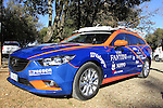 Nippo-Vini Fantini team car before the 2015 Strade Bianche Eroica Pro cycle race running 200km over the white gravel roads from San Gimignano to Siena, Tuscany, Italy. 6th March 2015<br /> Photo: Eoin Clarke www.newsfile.ie