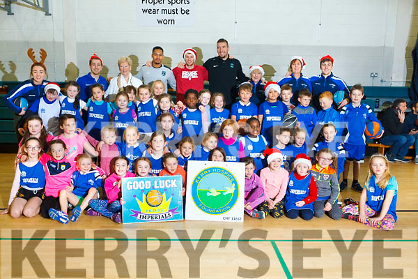 In attendance at the Mercy Mounthawk School gym for a  Basketball Marathon in aid of the Kerry Hospice.