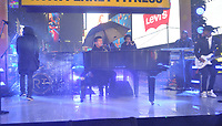 "NEW YORK - DECEMBER 31: Robin Thicke rehearses for ""FOX'S New Years Eve with Steve Harvey: Live From Times Square"" on December 31, 2018 in New York City. (Photo by Stephen Smith/Fox/PictureGroup)"