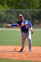 New York Mets Luis Guillorme (17) during practice before a minor league spring training game against the Miami Marlins on March 30, 2015 at the Roger Dean Complex in Jupiter, Florida.  (Mike Janes/Four Seam Images)