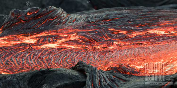 A lava bed on the coastal plains of Pulama Pali, Hawai'i Volcanoes National Park, Puna, Hawai'i Island, January 2018.