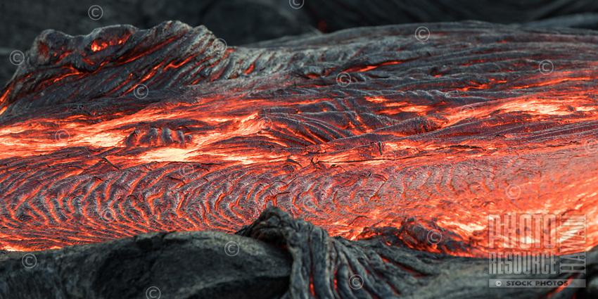 A lava bed on the coastal plains of Pulama Pali, Hawai'i Volcanoes National Park, Puna, Hawai'i Island, January 2018.