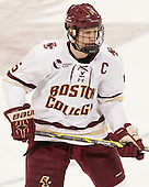 Michael Matheson (BC - 5) - The Boston College Eagles defeated the visiting University of Connecticut Huskies 3-2 on Saturday, January 24, 2015, at Kelley Rink in Conte Forum in Chestnut Hill, Massachusetts.