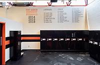 Athletics locker rooms, Occidental College, Aug. 29, 2019.<br /> (Photo by Marc Campos, Occidental College Photographer)