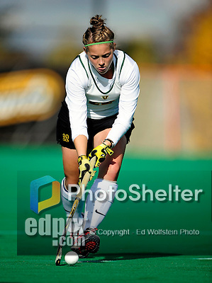 25 October 2009: University of Vermont Catamount forward Megan Maynard, a Senior from Waterbury Center, VT, in action against the Columbia University Lions at Moulton Winder Field in Burlington, Vermont. The Lions shut out the Catamounts 1-0. Mandatory Credit: Ed Wolfstein Photo