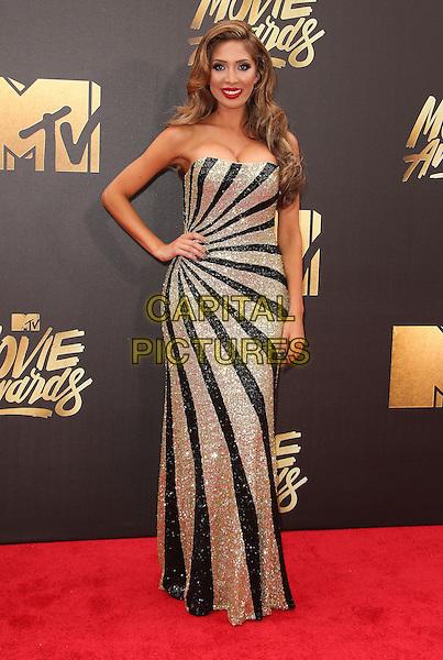 09 April 2016 - Burbank, California - Farrah Abraham. 2016 MTV Movie Awards held at Warner Bros. Studios. <br /> CAP/ADM/SAM<br /> &copy;SAM/ADM/Capital Pictures
