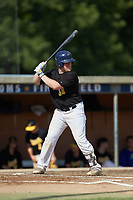 Zach McLean (32) (NC A&T) of the Statesville Owls at bat against the High Point-Thomasville HiToms at Finch Field on July 19, 2020 in Thomasville, NC. The HiToms defeated the Owls 21-0. (Brian Westerholt/Four Seam Images)