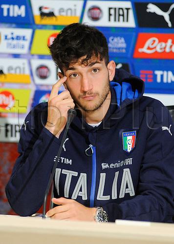 20.05.2016. Florence, Italy. The mens Italian Football team press conference.   Danilo Cataldi (Lazio)