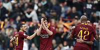 Football, Serie A: AS Roma - Sampdoria, Olympic stadium, Rome, November 11, 2018. <br /> Roma's Patrick Schick (c) celebrates after scoring with his teammates during the Italian Serie A football match between Roma and Sampdoria at Rome's Olympic stadium, on November 11, 2018.<br /> UPDATE IMAGES PRESS/Isabella Bonotto