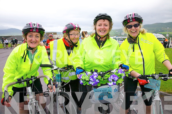 The ladies from the HSE in Tralee taking part in The Ring of Kerry Cycle on Saturday were l-r; Sheila Curtin, Rose Dowling, Mary Flawless & Margaret Glazier-Farmer.