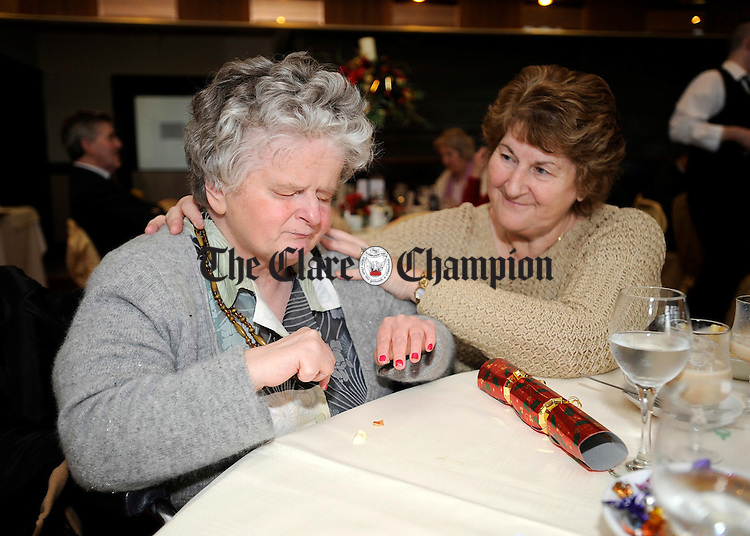 Rene Behan and Catherine O'Keefe at the Clare Branch of the National Council for the Blind dinner at the Clare Inn.Pic Arthur Ellis.