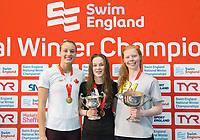 Picture by Allan McKenzie/SWpix.com - 13/12/2017 - Swimming - Swim England Winter Championships - Ponds Forge International Sport Centre - Sheffield, England - Rebecca Smith, Pia Murray & Laura Stephens.