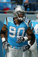 Julius Peppers In an NFL game played at Ericsson Stadium where the the Tampa Bay Buccaneers beat the Carolina Panthers 12-9