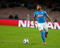 Faouzi Ghoulam during the Champions League Group  soccer match between SSC Napoli and   Dinamo Kiev  at the San Paolo  Stadium inNaples November 24, 2016