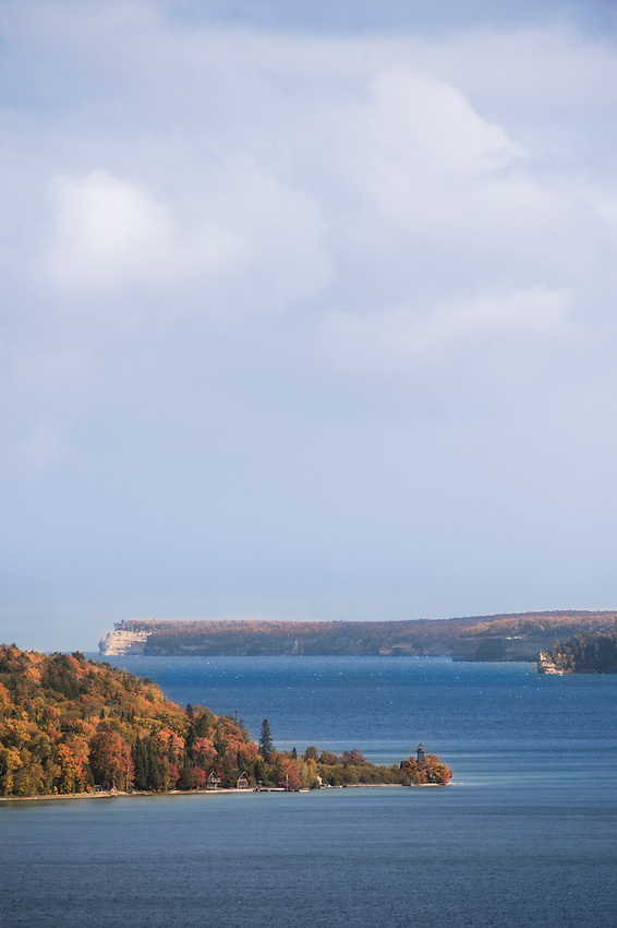 Fall color at Pictured Rocks National Lakeshore and Grand Island on Michigan's Upper Peninsula.