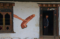 Trongsa to Thimphu,Bhutan..Also along the road Phallus painted on Buildings an interesting tradition and architecture.