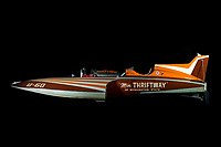 "1/6 scale RC model of 1955 ""Miss Thriftway"". Hydroplane And Raceboat Museum, Kent, WA."