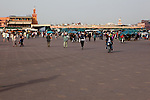 The Town Square of JemaaI-Fna is crowded by day and more so as evening aproaches. It is the largest town square in Africa.