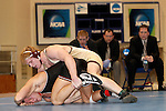 12 MAR 2011: Matthew Meuleners of  Northern State University wrestles jake Kahnke of St. Cloud State University during the Division II Wrestling Championship held at the Health and Sports Center at the University of Nebraska-Kearney in Kearney, NE. Meuleners defeated Kahnke for the national 285 pound title. Scott Anderson/NCAA Photos