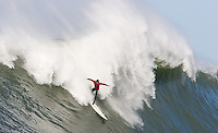 Alex Martin. Mavericks Surf Contest in Half Moon Bay, California on February 13th, 2010.