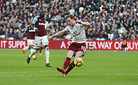 Burnley's Ashley Barnes scores his side's first goal  <br /> <br /> Photographer Rob Newell/CameraSport<br /> <br /> The Premier League - West Ham United v Burnley - Saturday 10th March 2018 - London Stadium - London<br /> <br /> World Copyright &copy; 2018 CameraSport. All rights reserved. 43 Linden Ave. Countesthorpe. Leicester. England. LE8 5PG - Tel: +44 (0) 116 277 4147 - admin@camerasport.com - www.camerasport.com