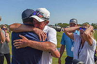 Andrew Landry (USA) receives a big hug from his father after winning the Valero Texas Open, AT&amp;T Oaks Course, TPC San Antonio, San Antonio, Texas, USA. 4/22/2018.<br /> Picture: Golffile | Ken Murray<br /> <br /> <br /> All photo usage must carry mandatory copyright credit (&copy; Golffile | Ken Murray)