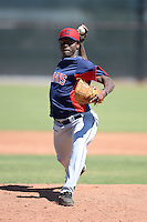 Cleveland Indians pitcher Carlos Melo (51) during an instructional league game against the Cincinnati Reds on September 28, 2013 at Goodyear Training Complex in Goodyear, Arizona.  (Mike Janes/Four Seam Images)