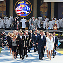 Both Teams and Officials leave the stage after the official opening prior to the 37th Ryder Cup Matches, September 16 -21, 2008 played at Valhalla Golf Club, Louisville, Kentucky, USA ( Picture by Phil Inglis ).... ......