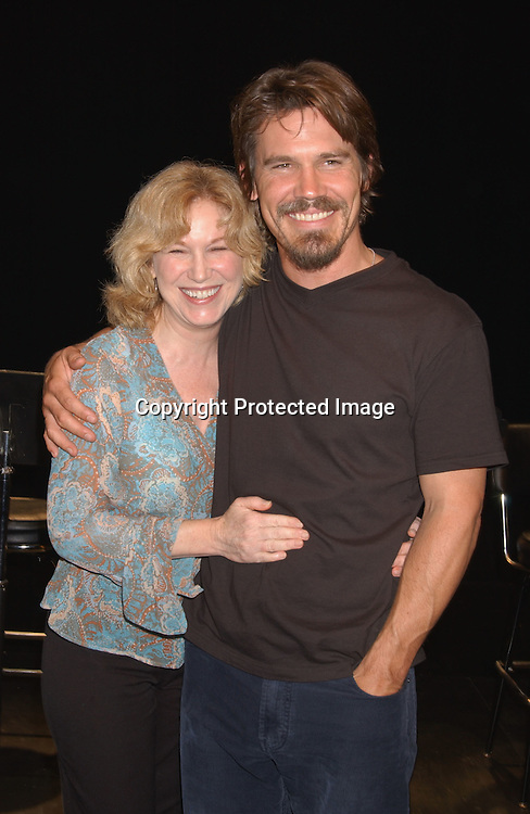 "..Mary Kay Place and Josh Brolin..at a performance of ""The Exonerated "" at the 45 Bleecker..Theatre in New York City on August 8,2003. Photo by ..Robin Platzer, Twin Images.."