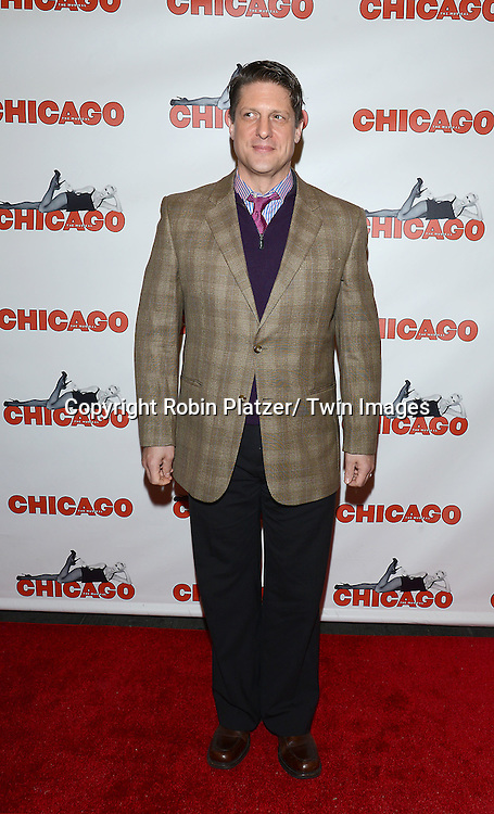"Christopher Sieber attends ""Chicago""  becoming the 2nd Longest Running Show on Broadway at performance 7486 on November 23, 2014 at the Ambassodor Theatre in New York City."